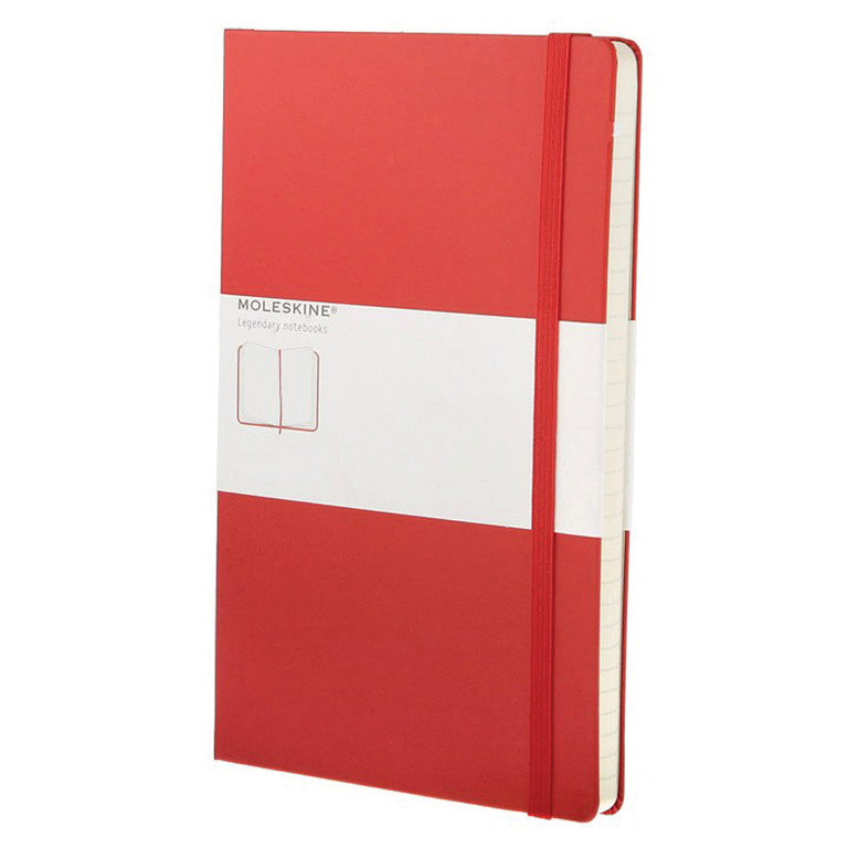 MOLESKINE PLAIN NOTEBOOK RED L