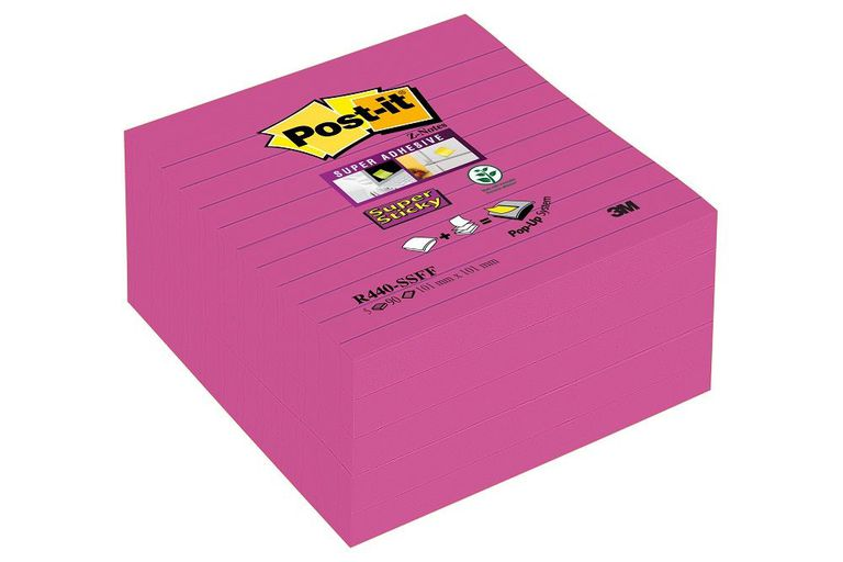 POST-IT SS Z-NOTES LINJER 101X101MM ROSA