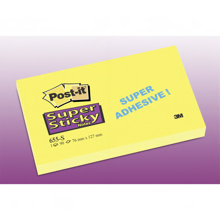 POST-IT 655S SUPERSTICKY GUL 76X127MM