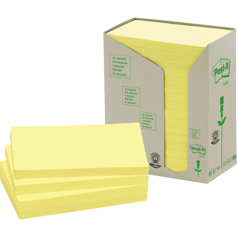 POST-IT RESIRK 6551T GUL 76X127MM(16)