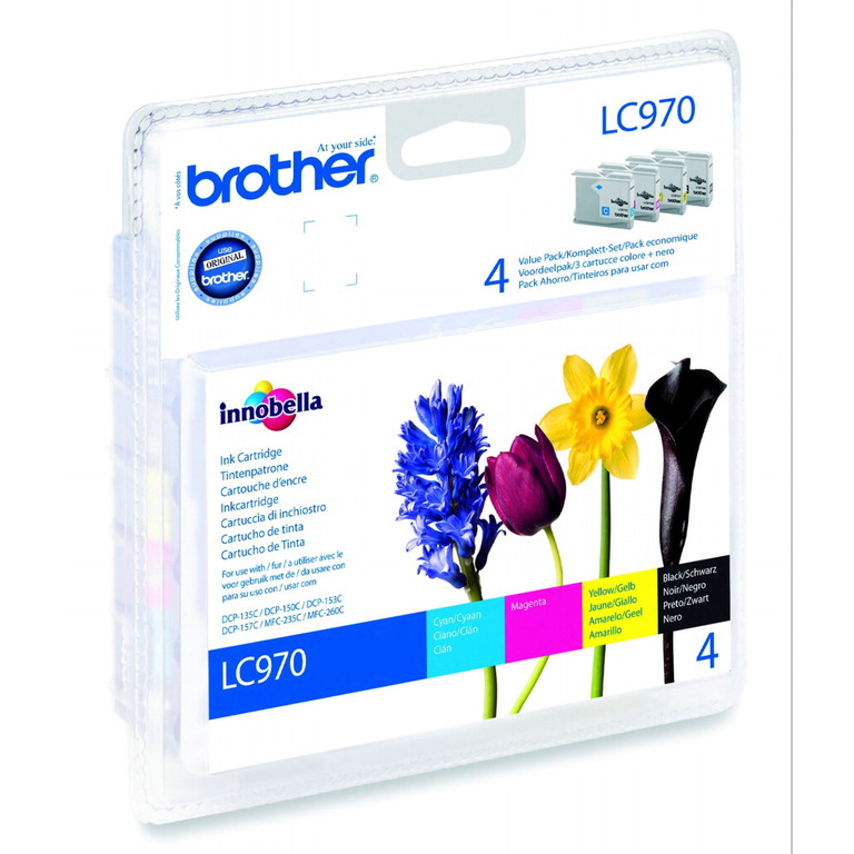 BLEKK BROTHER LC970 VALUE PACK INCL. BK/C/M/Y S