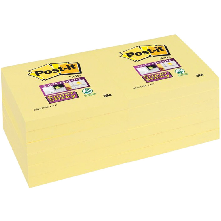 POST-IT SUPERST CANARY GUL 76X76MM
