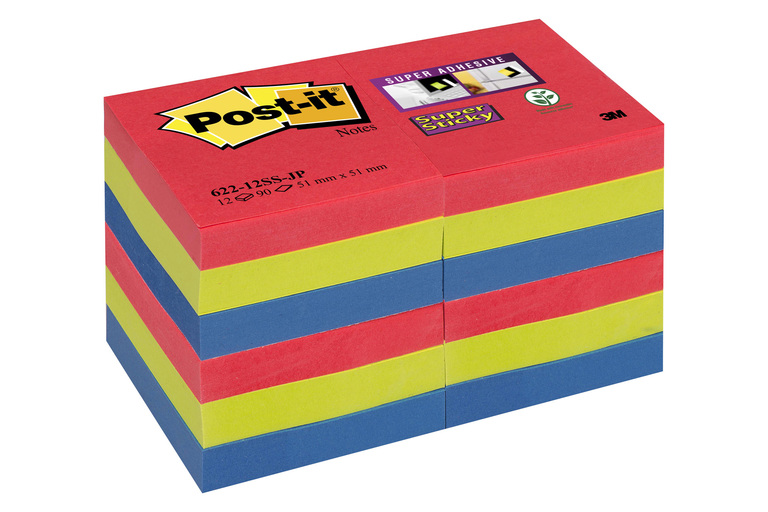 POST-IT SUPERST ASS JEWEL 51X51MM(12)