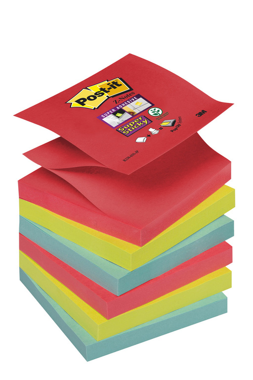 POST-IT Z-NOTES SUPERST JEWEL 76X76MM(6)